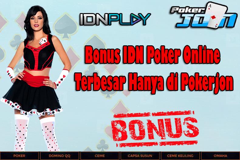 Bonus IDN Poker Online Terbesar Hanya di Pokerjon